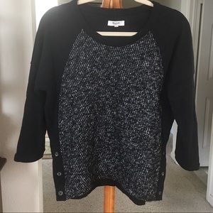Madewell Black and White Top. Size Small.